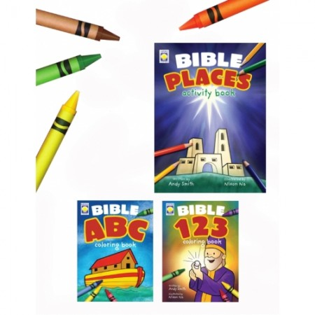 Bible Activity Books (3 books)